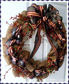 patriotic wreaths | 21 Rosemary Lane: Patriotic Burlap Wreath