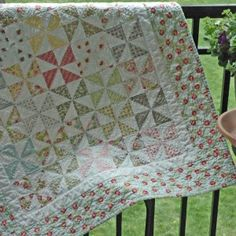 Pinwheels and practicing FMQ = baby quilt.  I used a charm pack of Ambleside by Brenda Riddle Designs.  All washed and crinkly soft.  :)