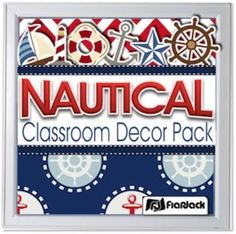 Editable Nautical Classroom Decor Materials Pack by FlapJack Educational Resources | Teachers Pay Teachers