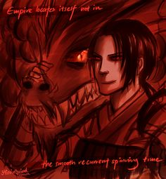 "Hetalia Empires, Take 2 (Part 1 of 6): Han Dynasty Yao with a dragon - Art by stirringwind.tumblr.com - From the artist's comments: ""I wanted to draw nations that became empires, with their aggressive national animals. Because for all its alleged cold calculation or pretenses to benevolence, imperialism is at its heart a primal and mad enterprise. So this is a kind of headcanon that empire is like a sort of berserker insanity that overtakes aph nations throughout human history…"""