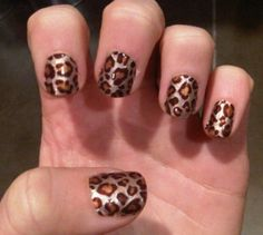 Leopard nails! Done it(: