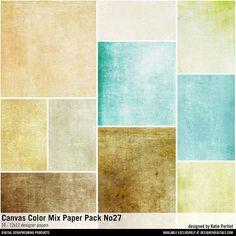 Canvas Color Mix Paper Pack No. 27 textured papers for digital art and more #designerdigitals