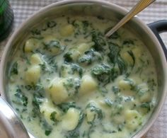 Cremekartoffeln mit Spinat