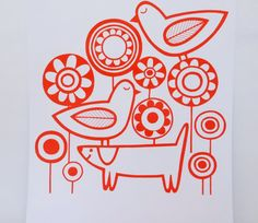 New Scandi Style 'Playtime' screen print by Jane by Janefoster