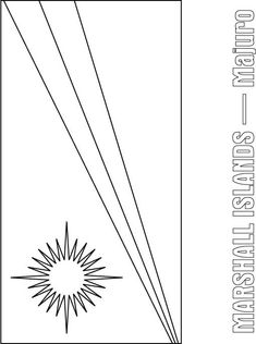 Marshall Islands flag coloring page - for the countries you don't normally hear/learn about!
