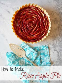 How to make a Rose Apple Pie - Get the step-by-step tutorial on ComfortablyDomestic.com