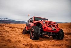 The most perfect Red Jeep Wrangler JKU!