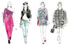 Fashion illustration   Sarah Hankinson