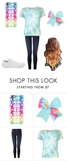 """""""tie-dye Tuesday"""" by a-hidden-secret ❤ liked on Polyvore featuring Casetify, Polo Ralph Lauren, Yves Saint Laurent and Converse"""