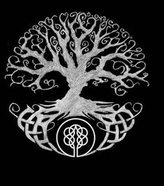 40 Ideas For Norse Tree Of Life Tattoo Vikings Norse Tattoo, Celtic Tattoos, Viking Tattoos, Warrior Tattoos, Wiccan Tattoos, Inca Tattoo, Indian Tattoos, Samoan Tattoo, Polynesian Tattoos