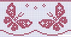 Ideas for embroidery clothes animals Xmas Cross Stitch, Butterfly Cross Stitch, Cross Stitch Bookmarks, Cross Stitch Love, Cross Stitch Alphabet, Cross Stitching, Cross Stitch Embroidery, Cross Stitch Patterns, Wiggly Crochet