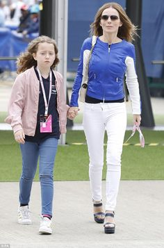 Bonding session!Geri Horner brought her daughter Bluebell to the 2017 British Grand Prix ...
