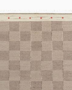 Beige & Brown Swedish Flatweave Carpet (detail) - Shop - L'ArcoBaleno