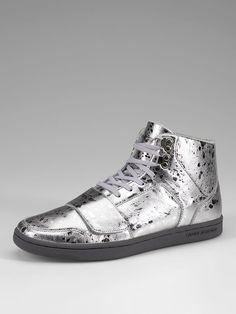 Cesario Metallic High Top Sneakers by Creative Recreation at Gilt