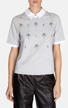 Embellished sweatshirt | Luxury Women's workwear | Karen Millen