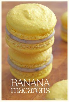 banana macarons