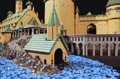 Boathouse, Lego model of Hogwarts by Alice Finch. Via Flickr