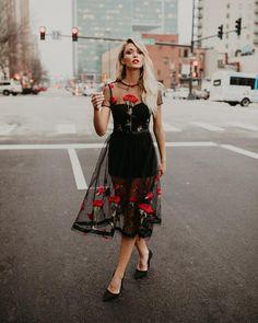 Going To The Garden Applique Midi Dress