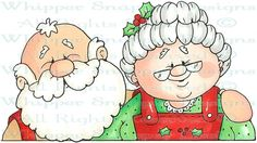 Mr. & Mrs. Claus - Christmas Images - Christmas - Rubber Stamps - Shop (550x309)