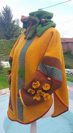 Tara Jarmon, Winter Coats Women, Wet Felting, Cloak, Refashion, Upcycle, Sewing, Crochet, How To Wear
