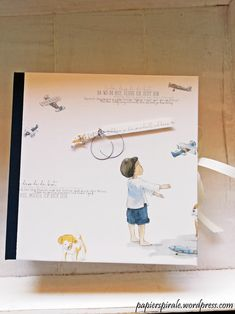 Papierspirale - Leporello Album Kinder Nostalgie Flieger  (Alexandra Renke) Album, Cover, Books, Art, Paper, Bookbinding, Stamps, Nostalgia, Kids