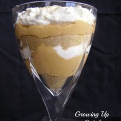 Pumpkin Cheesecake Parfaits- Use Redi-Whip (or make your own whipped cream) and for graham crackers use Erewhon Organic Cinnamon Grahams (they're soy-free/nut-free)