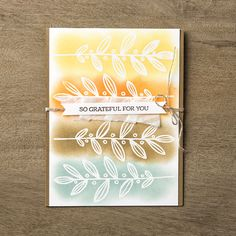 We love this emboss resist technique shown on this card made with the Lighthearted Leaves stamp set.