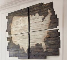 DIY Pottery Barn pallet wood USA outline