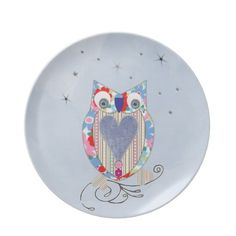 Cute Flowery Blue Pink Whimsical Owl Picture   Such a cute design this whimsical owl in pinks and blues in a flowery pattern is just adorable