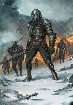 Artwork Wild Hunt Warriors - Witcher 3 CD Projekt Red