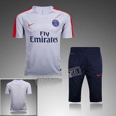Tous Les Nouveaux Pré Match Training T Shirts Psg Paris Saint Germain Gris Costume Homme Manche Courte 2016 2017 :Foot769Fr