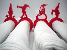 Laser Cut Acrylic Gnome Napkin Rings - Set of Four