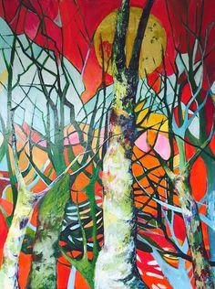 Singing trees (2016) Acrylic painting by Julia Hacker | Artfinder