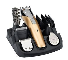 Product Feature: Full size trimmer(3,6,9,12mm):Define hair around #neckline precisely and evenly. Precision trimmer(4-5.5mm,4levels): Define both straight Or cu...