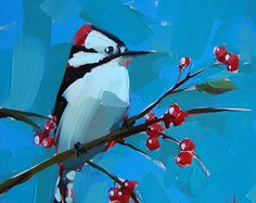 Browse unique items from prattcreekart on Etsy, a global marketplace of handmade, vintage and creative goods. Bird Paintings On Canvas, Small Paintings, Animal Paintings, Canvas Art, Guache, Watercolor Bird, Bird Prints, Bird Art, Painting Inspiration