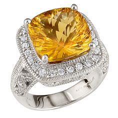 Bauman-Massa stunning Citrine and diamond ring  Noe's Jewelry