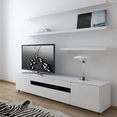 Cityside Furniture Taylor Wall Composition 403 White Gloss 2 476 00 Http Floating Tv Cabinetfloating