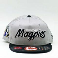 85005e8f9b1 Collingwood Magpies Team Script New Era AFL 9Fifty Snapback New Era Shop