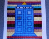 Doctor Who, TARDIS background is based on the fourth Doctor Scarf