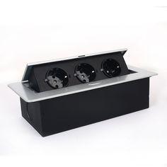 SIMBR Versenkbare Bodensteckdose Tischsteckdose 3 Fach Steckdose für Boden Tisch Küchenarbeitsfläche Arbeitsplatte: Amazon.de: Baumarkt