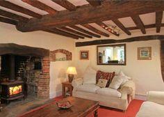 3 bedroom semi-detached house for sale in Easebourne Street, Upper Easebourne, Midhurst, West Sussex, - Rightmove. Fireplace Beam, Inglenook Fireplace, Cottage Fireplace, Cottage Living Rooms, My Living Room, Living Room Decor, Snug Room, Cosy Room, Country Interior