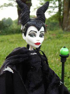 Monster High Custom OOAK Repaint Maleficent Sleeping Beauty Wicked Queen