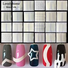 Wholesale 24pcs Nails Sticker Tips Guide French Manicure Nail Art Decals Form Fringe Guides DIY Sencil Styling Beauty Tools ** Click the image to visit the website