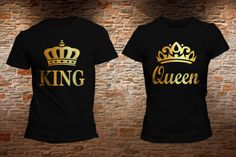 PLAYERA KING QUEEN ORO. Realiza tu pedido en: https://www.facebook.com/shopkevs/ - www.kevshop.com.mx