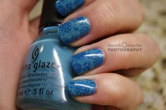 another stamping idea..Konad's plate M 64