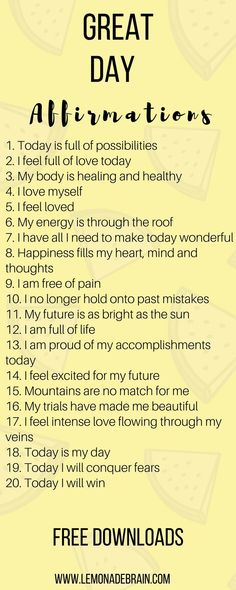 Affirmations are a great way to have a better day! Hey, I'm a poet and I didn't know it. Okay, I guess I do know it because I am a songwriter, to technically I am a poet. But enough about me, this post is about you! Affirmations have been life changing fo Positive Affirmations Quotes, Morning Affirmations, Affirmation Quotes, Affirmations For Happiness, Mantra, Positive Quotes For Life Happiness, Positive Thoughts, Positive Energie, Self Love Quotes