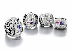 Tom Brady and Bill Belichick are among the Patriots who own all four of the franchise's Super Bowl rings. This year's championship ring (left) is the largest of them all with 205 diamonds. It also has the highest appraised value.