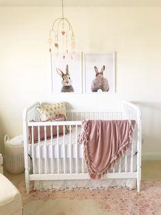 Little Bunny Foo Foo Classic Baby Girl Nursery with Bunny Decor Bunny Room, Bunny Nursery, Nursery Room, Girl Nursery, Lilac Nursery, Cream Nursery, Cottage Nursery, Peter Rabbit Nursery, Baby Bedroom
