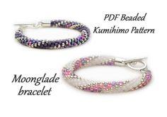 PDF Beaded Kumihimo Pattern - Moonglade Kumihimo bracelet tutorial – bead layout instruction by WhirlpoolGalaxy on Etsy https://www.etsy.com/uk/listing/524205453/pdf-beaded-kumihimo-pattern-moonglade