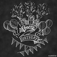 Best Indoor Garden Ideas for 2020 - Modern Cute Birthday Messages, Creative Birthday Cards, Happy Birthday Quotes For Friends, Happy Birthday Signs, Birthday Images, Birthday Greetings, Beer Birthday Party, Birthday Board, Chalkboard Lettering